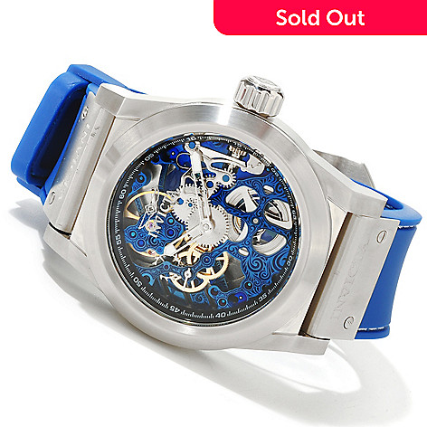 617-332 - Invicta Men's Sea Ghost Skeleton Mechanical Stainless Steel Case Polyurethane Strap Watch