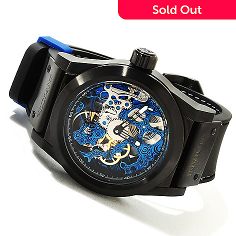 617-333 - Invicta Men's Sea Ghost Skeleton Mechanical Stainless Steel Case Polyurethane Strap Watch
