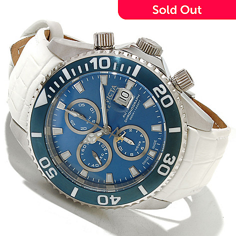 617-342 - Invicta Reserve Men's Pro Diver Swiss Valjoux 7750 Automatic Chronograph Leather Strap Watch