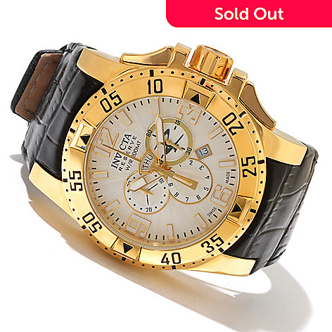 617-359 - Invicta Reserve Men's Excursion Elegant Edition Swiss Quartz Chronograph Leather Strap Watch