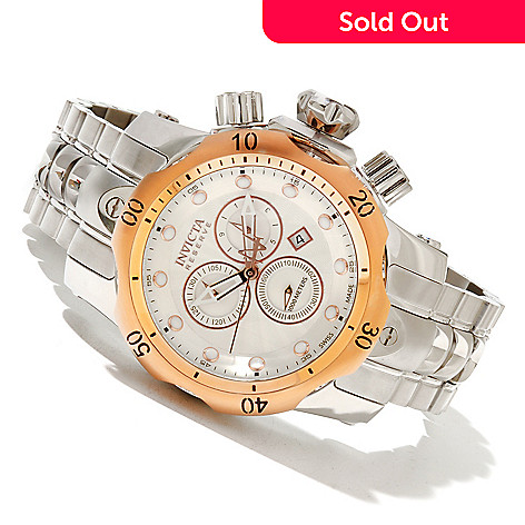 617-362 - Invicta Reserve Mid-Size Venom Swiss Made Quartz Chronograph Stainless Steel Bracelet Watch