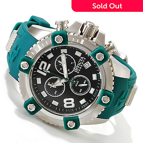 617-363 - Invicta Reserve 48mm Swiss Made Quartz Chronograph Stainless Steel Polyurethane Strap Watch