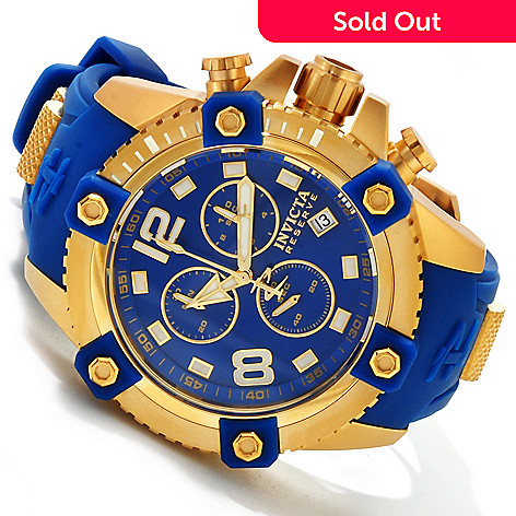 617-364 - Invicta Reserve 48mm Octane Swiss Made Quartz Chronograph Polyurethane Strap Watch