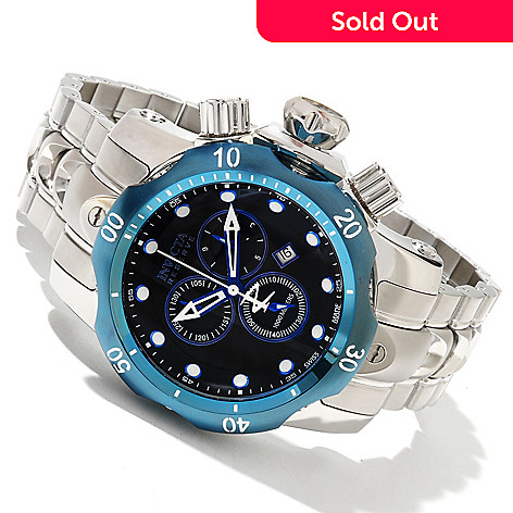 617-368 - Invicta Reserve Venom Swiss Made Quartz Chronograph Stainless Steel Bracelet Watch