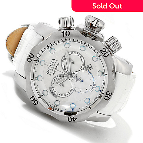 617-372 - Invicta Reserve Men's Venom Swiss ''Arctic Edition'' Quartz Chronograph Leather Strap Watch