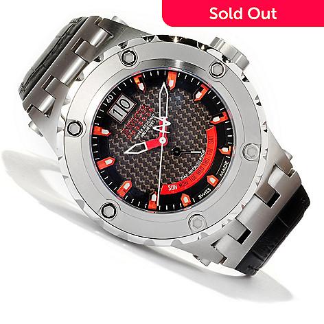 617-450 - Invicta Reserve Men's Specialty Subaqua Swiss Made Quartz Leather Strap Watch