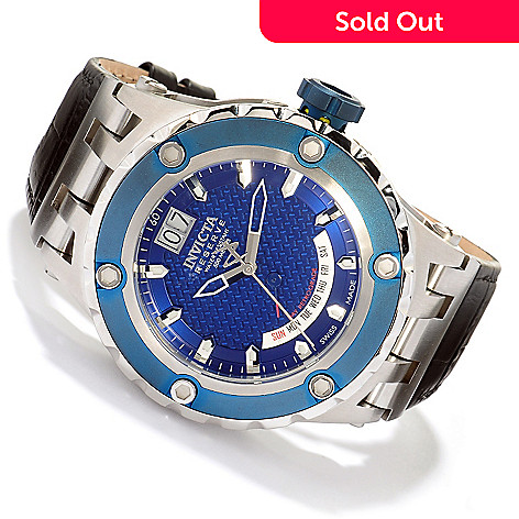 617-451 - Invicta Reserve Men's Specialty Subaqua Swiss Quartz Leather Strap Watch