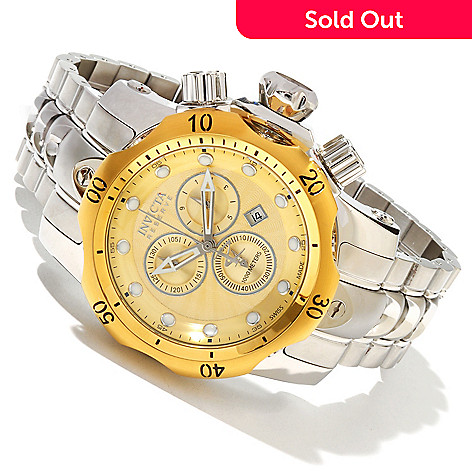 617-456 - Invicta Reserve Venom Swiss Made Quartz Chronograph Stainless Steel Bracelet Watch