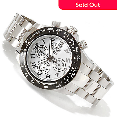 617-457 - Invicta Reserve 45mm Speedway Swiss Automatic Valjoux 7750 Stainless Steel Bracelet Watch