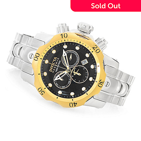 617-460 - Invicta Reserve Mid-Size Venom Swiss Made Quartz Chronograph Stainless Steel Bracelet Watch
