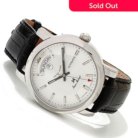617-464 - Jean Marcel Men's Clarus Limited Edition Swiss Made Automatic Leather Strap Watch