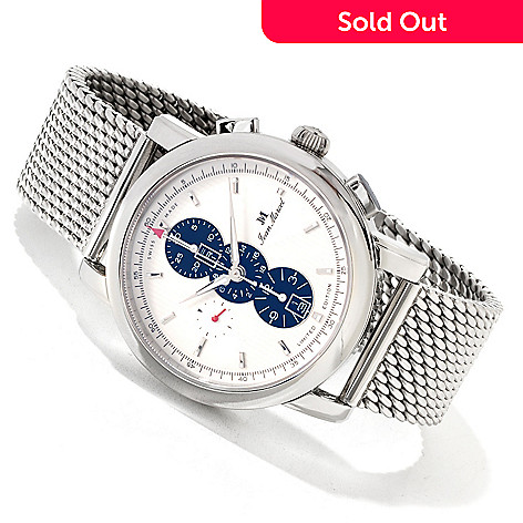 617-467 - Jean Marcel Men's Clarus Limited Edition Swiss Made Automatic Chronograph Bracelet Watch