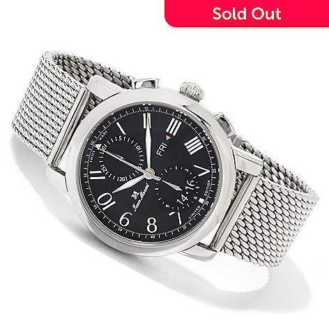 617-468 - Jean Marcel Men's Clarus Limited Edition Swiss Made Automatic Chronograph Mesh Bracelet Watch