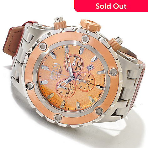 617-510 - Invicta Reserve Specialty Subaqua Swiss Chronograph Leather Strap Watch