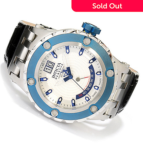 617-575 - Invicta Reserve Men's Specialty Subaqua Swiss Made Quartz Leather Strap Watch