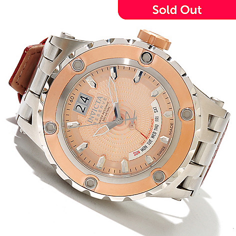 617-580 - Invicta Reserve Men's Specialty Subaqua Swiss Made Quartz Leather Strap Watch