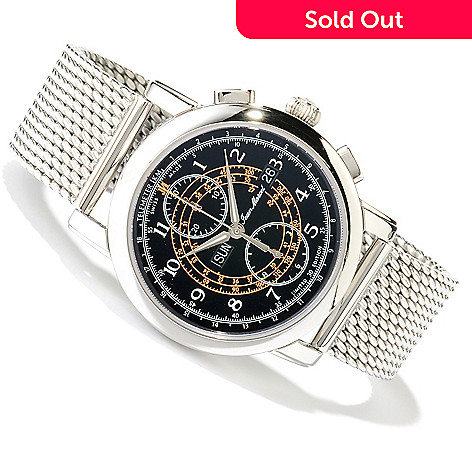 617-590 - Jean Marcel Men's Clarus Limited Edition Swiss Made Mechanical Stainless Steel Bracelet Watch