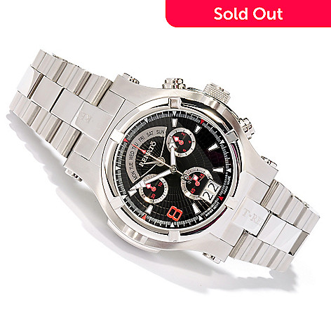 617-595 - Renato Men's T-Rex Swiss Quartz Chronograph Stainless Steel Bracelet Watch
