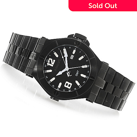 617-596 - Renato 50mm Wilde-Beast Quartz GMT Stainless Steel Bracelet Watch