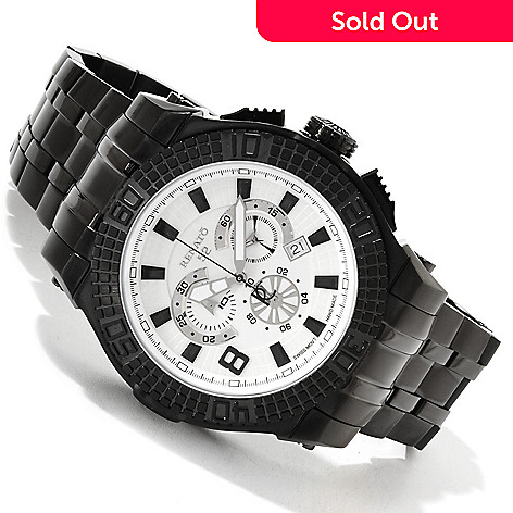 617-603 - Renato 52mm Buzo 52 Swiss Quartz Chronograph Stainless Steel Bracelet Watch