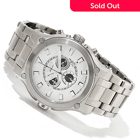617-607 - Renato 50mm Calibre Robusta Swiss Made Quartz Chronograph Bracelet Watch