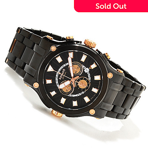617-608 - Renato Men's Calibre Robusta Swiss Quartz Chronograph Stainless Steel Bracelet Watch