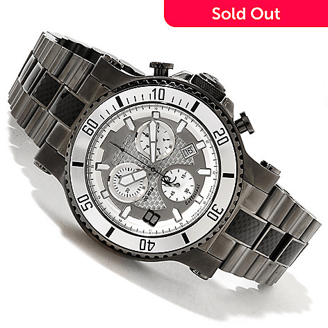 617-610 - Renato Men's T-Rex Diver Quartz Chronograph Stainless Steel Bracelet Watch