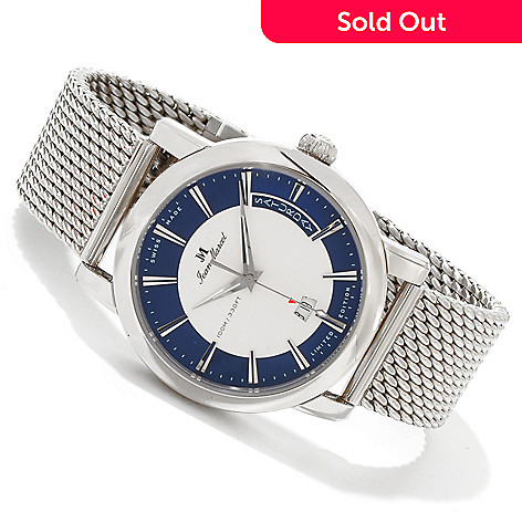 617-698 - Jean Marcel Men's Clarus Limited Edition Swiss Made Automatic Mesh Bracelet Watch