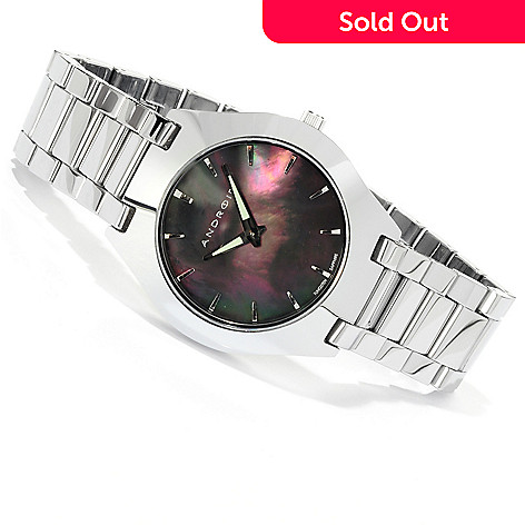 617-724 - Android Men's Infini Quartz Mother-of-Pearl Tungsten Bracelet Watch