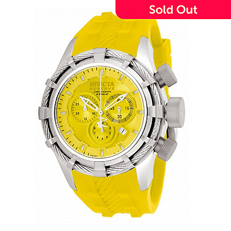 617-758 - Invicta Reserve Men's Bolt Sport Swiss Quartz Chronograph Strap Watch w/ Three Slot Dive Case