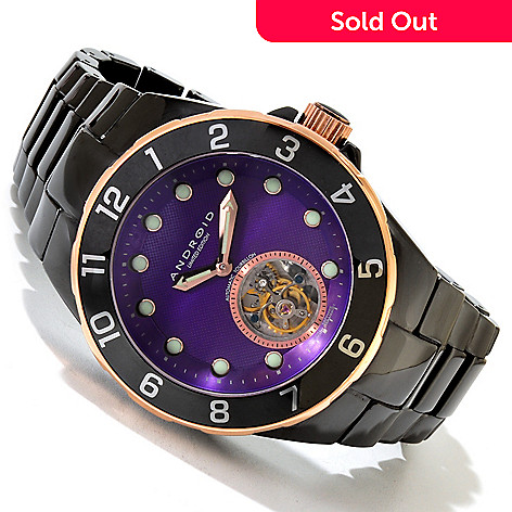 617-788 - Android Men's Hercules Limited Edition Automatic Flying Tourbillon Ceramic Bracelet Watch