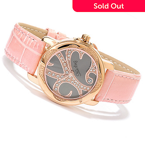 617-798 - Stührling Original Women's Isis Strap Watch Made w/ Swarovski® Elements