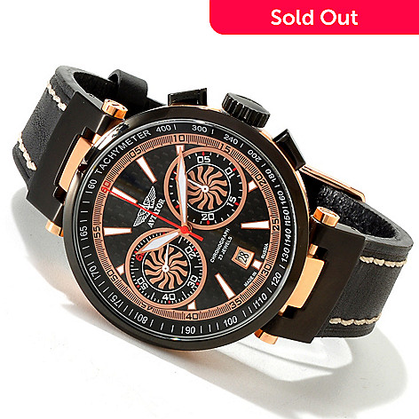 617-812 - Aviator Men's High Tech Limited Edition Chronograph Leather Strap Watch