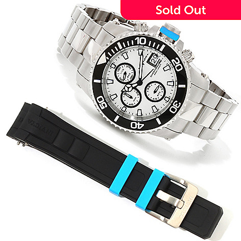 617-844 - Invicta Men's Pro Diver Quartz Chronograph Interchangeable Bracelet Watch