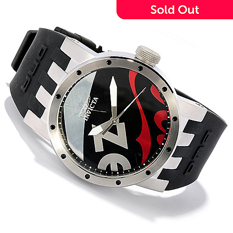 617-849 - Invicta Men's DNA Recycled Art Quartz Stainless Steel Silicone Strap Watch
