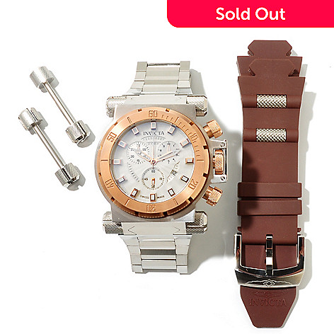 617-852 - Invicta Men's Coalition Forces Swiss Quartz Chronograph Interchangeable Bracelet Watch