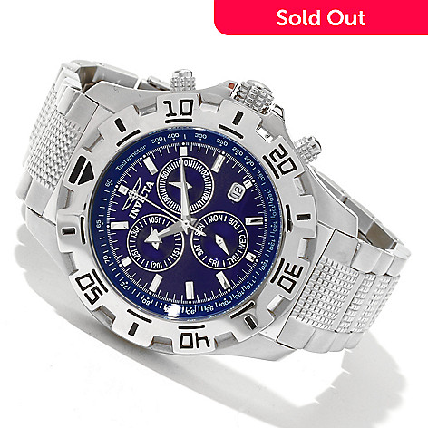 617-862 - Invicta Men's Specialty Python Quartz Chronograph Stainless Steel Bracelet Watch