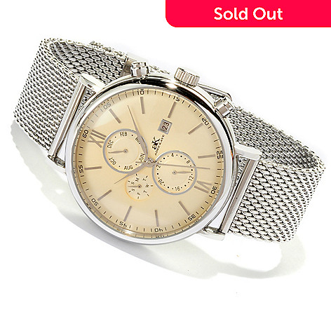 617-867 - Adee Kaye  Men's Automatic Multifunction Stainless Steel Strap Watch