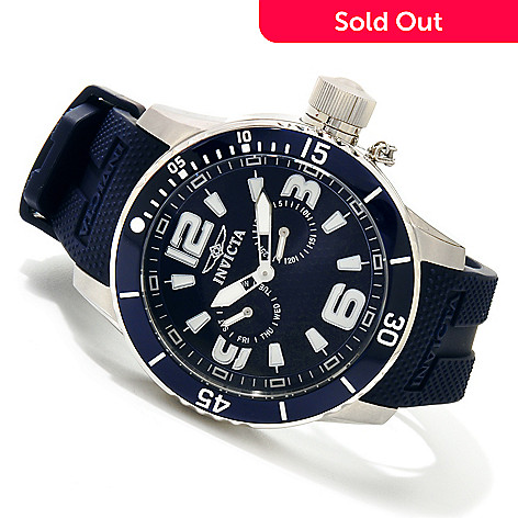 617-880 - Invicta Men's Diver Corduba Quartz Stainless Steel Case Polyurethane Strap Watch w/ 3-Slot Dive Case
