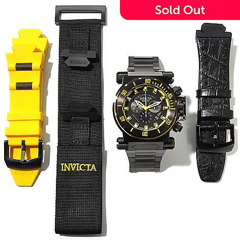 617-890 - Invicta Men's Coalition Forces Black Label Swiss Chronograph Bracelet Watch