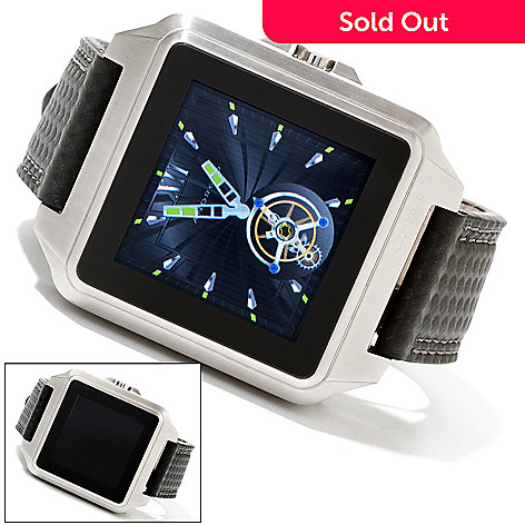 617-936 - Android Men's Galactopus Digital Touch Screen 316L Stainless Steel Leather Strap Watch