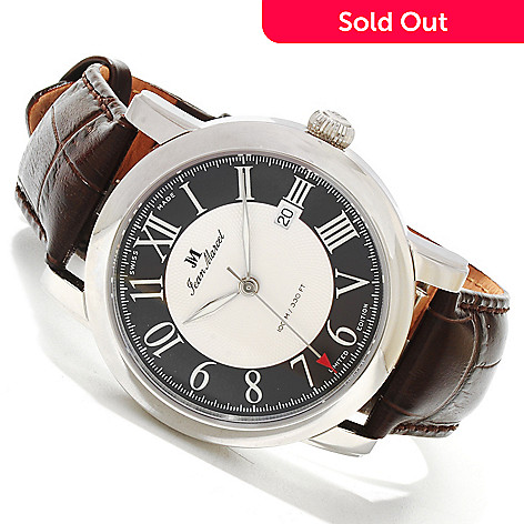 617-960 - Jean Marcel Men's Clarus Swiss Made Limited Edition Automatic Stainless Steel Leather Strap Watch
