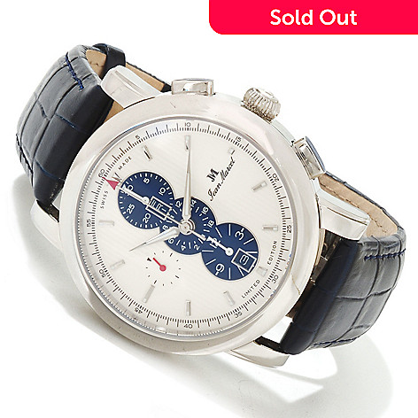 617-961 - Jean Marcel Men's Clarus Limited Edition Swiss Made Automatic Stainless Steel Leather Strap Watch