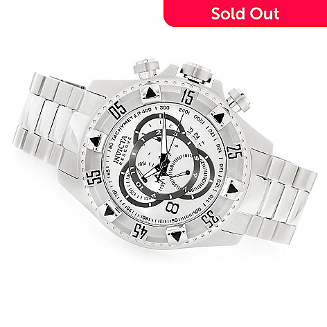 617-979 - Invicta Reserve Men's Excursion Swiss Chronograph Bracelet Watch w/ Three-Slot Dive Case