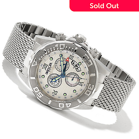 617-980 - Invicta Men's Sea Wizard Limited Edition Quartz GMT & Alarm Bracelet Watch