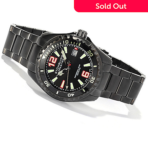 617-987 - Stührling Prestige Men's Regatta Captain Swiss Made Quartz Stainless Steel Bracelet Watch