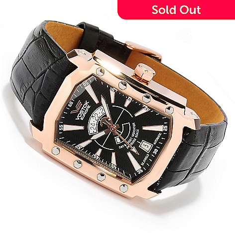 617-989 - Vostok-Europe Men's Arktika Limited Edition Automatic Leather Strap Watch