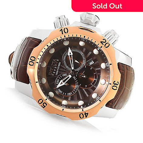 618-002 - Invicta Reserve 52mm Venom Elegant Edition Swiss Quartz Chronograph Leather Strap Watch