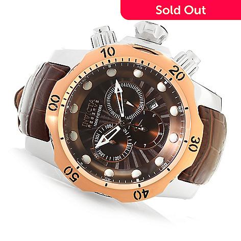 618-002 - Invicta Reserve 52mm Venom Elegant Edition Swiss Quartz Chronograph Leather Strap Watch