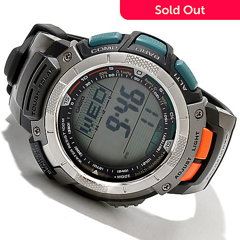 618-017 - Casio Men's Pathfinder Multi-function Digital Display Rubber Strap Watch